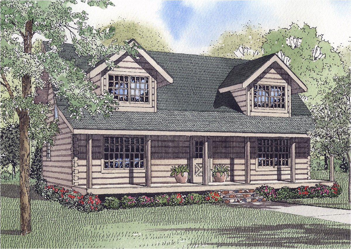 log home plan 59048nd