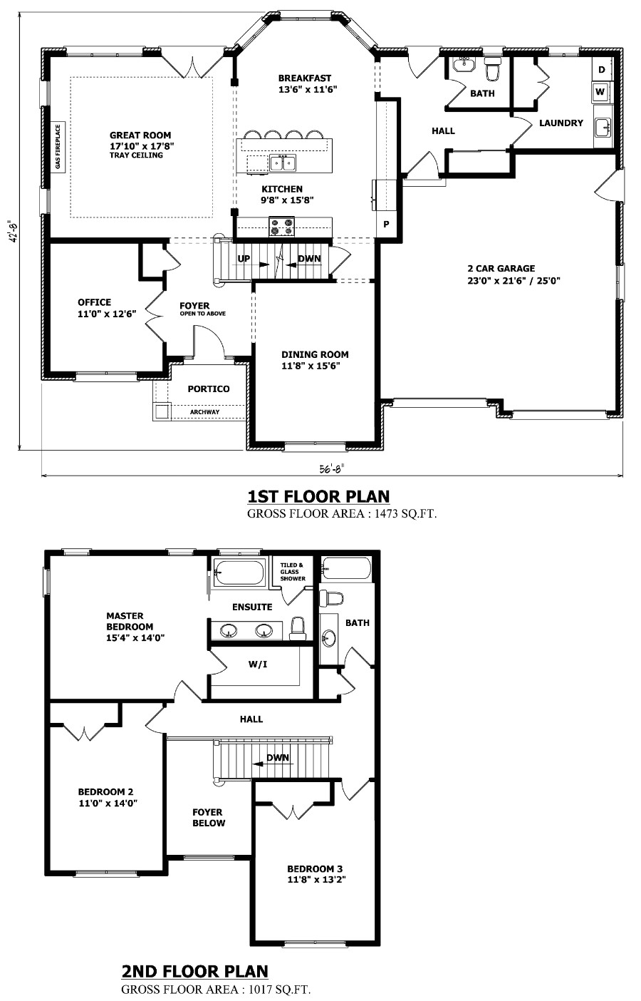 the richmond hill two storey house plan