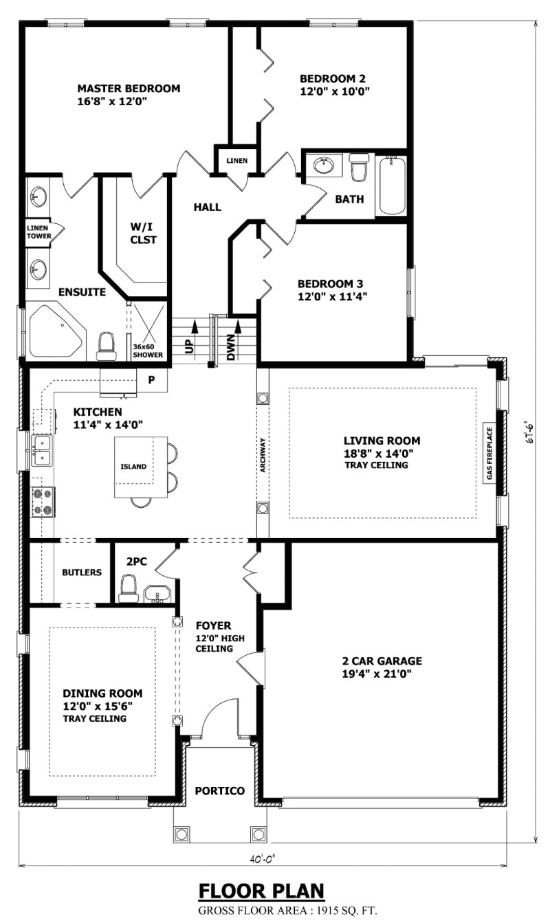 the waterloo backsplit house plan