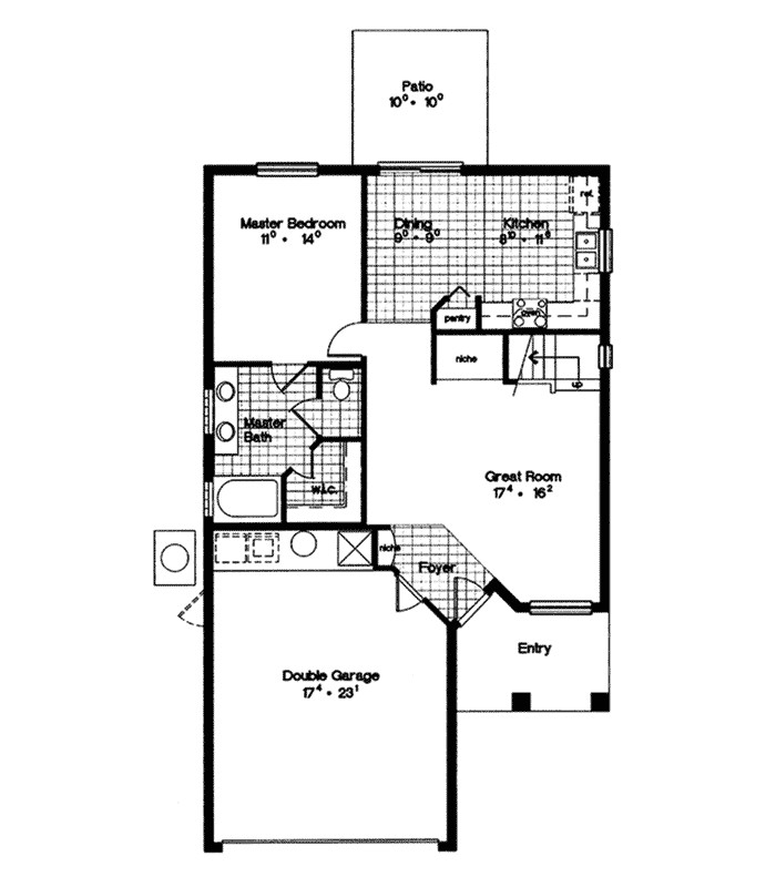 Stucco Home Floor Plans Fowler Stucco Ranch Home Plan 047d 0007 House Plans and More