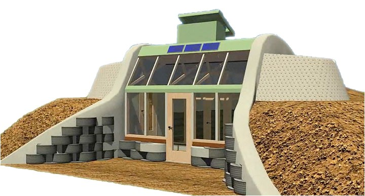 simple survival earthship design