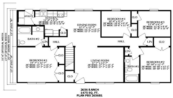 2 bedroom split level floor plans