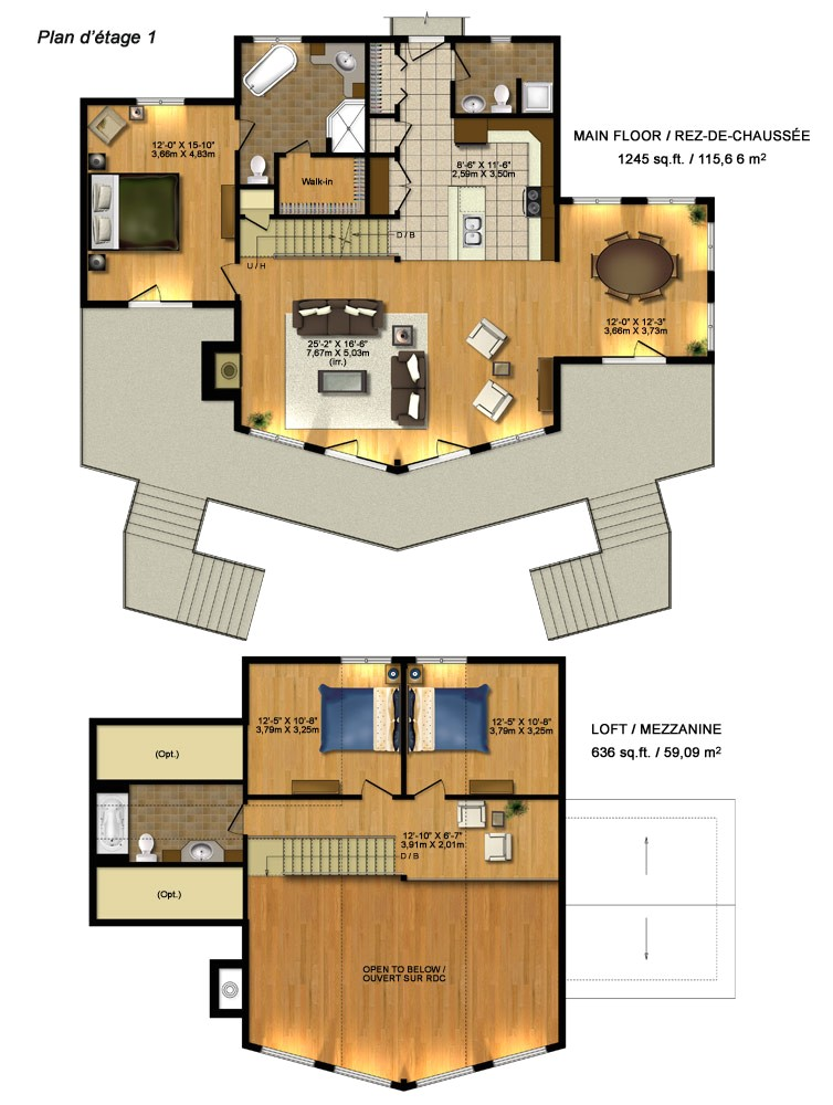house plans timber block homes