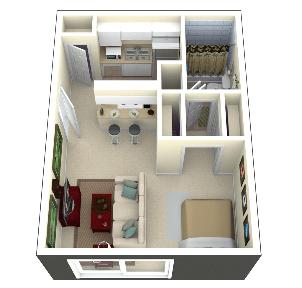 tiny house floor plans 3d home plan 300 square feet