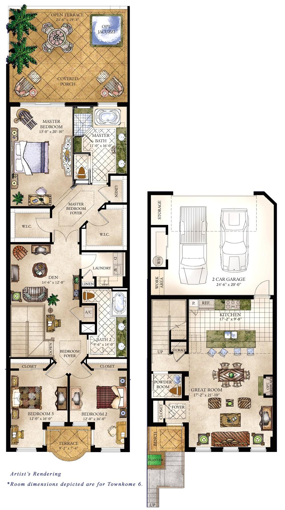 Town Home Floor Plans townhomes Floorplans Floor Plans