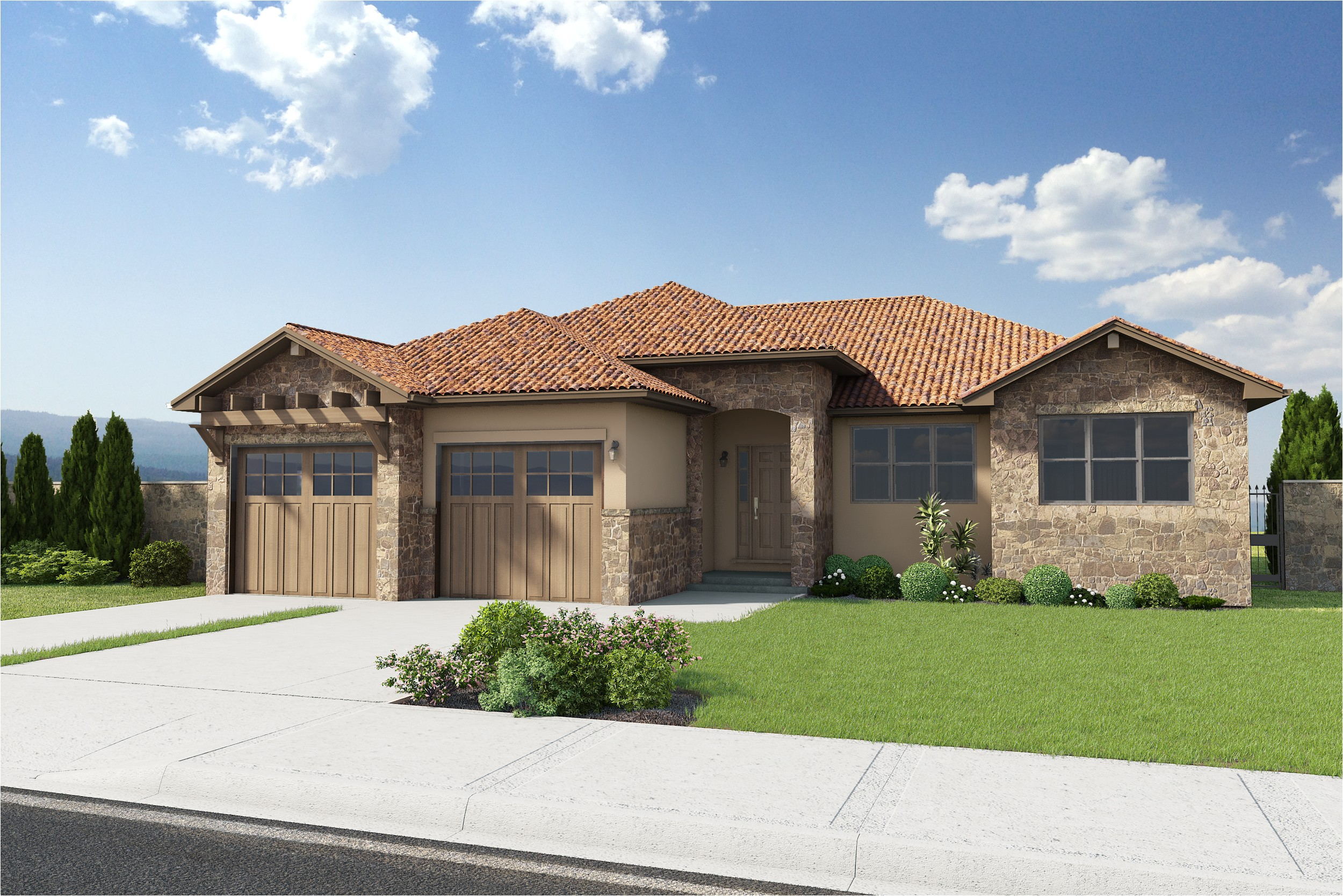 tuscan style house plans