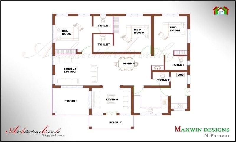 single floor 4 bedroom house plans kerala unique house plans 4 bedroom house plans kerala style single floor house