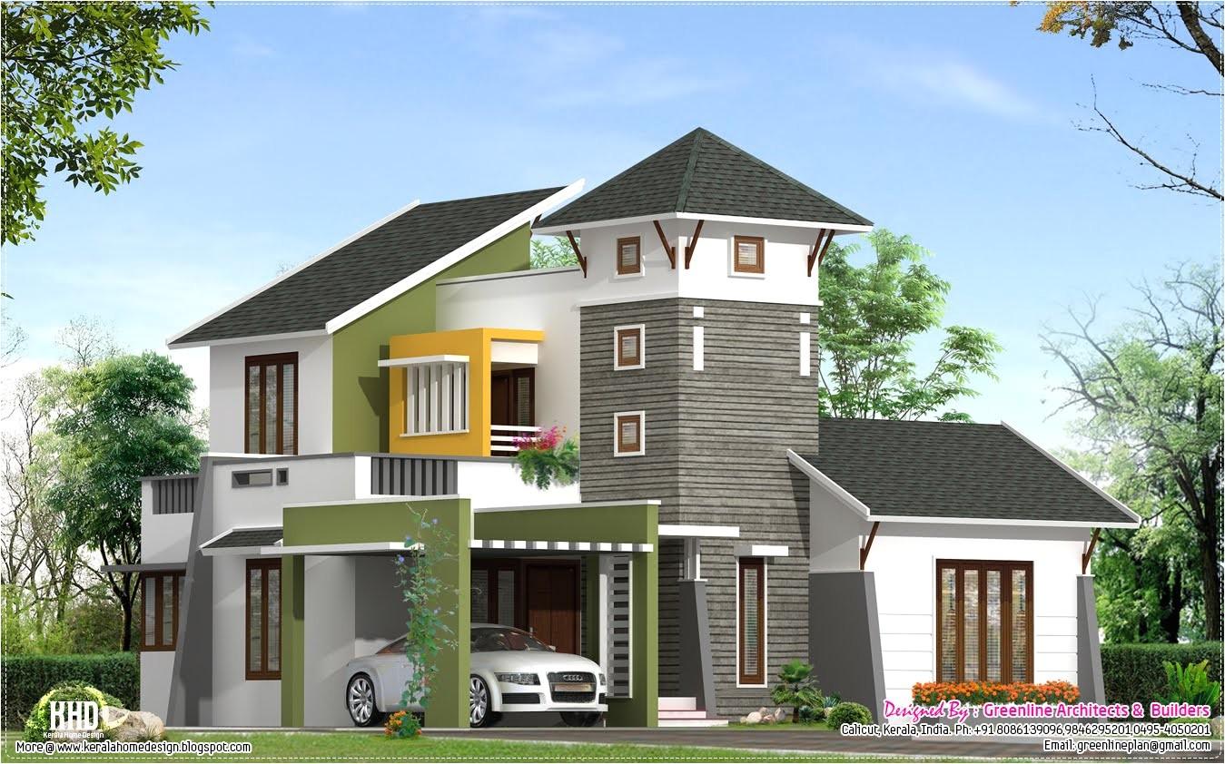 unique villa elevation