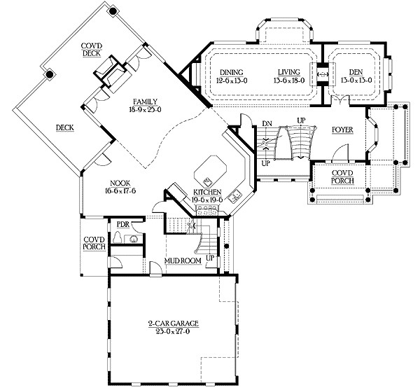unique floor plan with central turret 23183jd