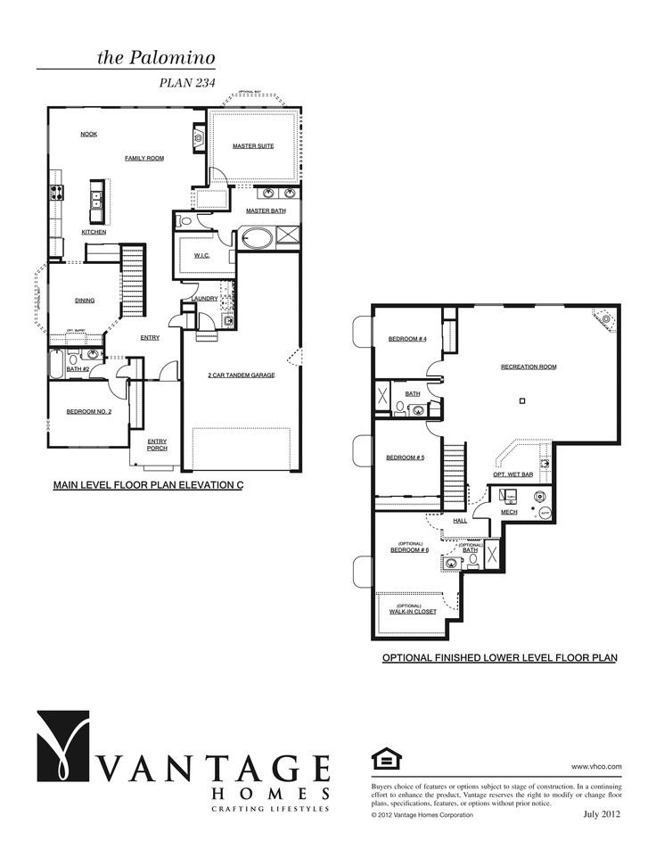 our floorplans