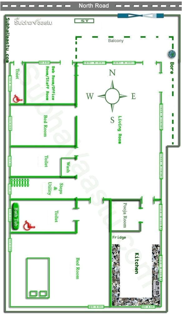 home design according vastu shastra north facing vastu house plan subhavaastu