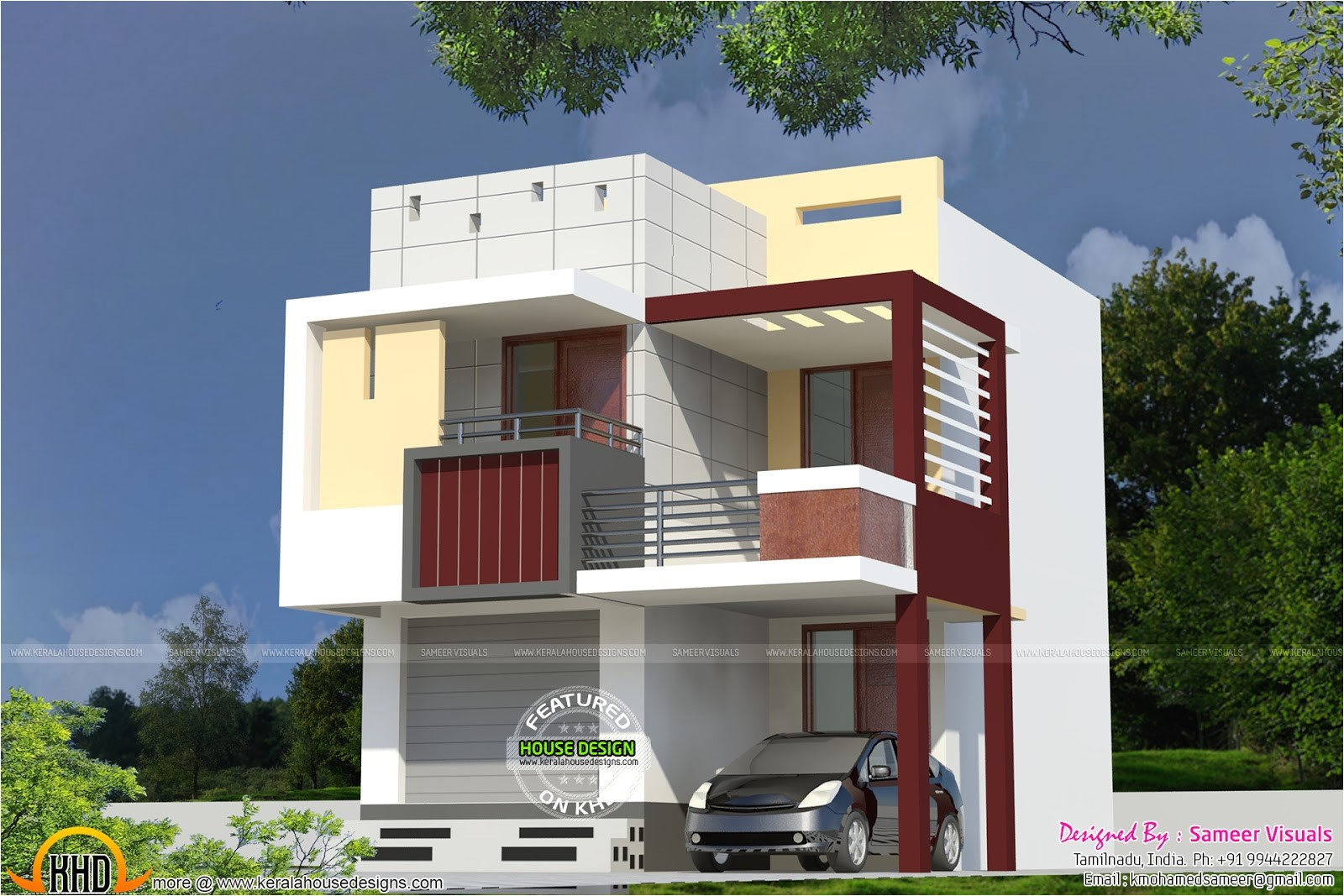 very small double storied house