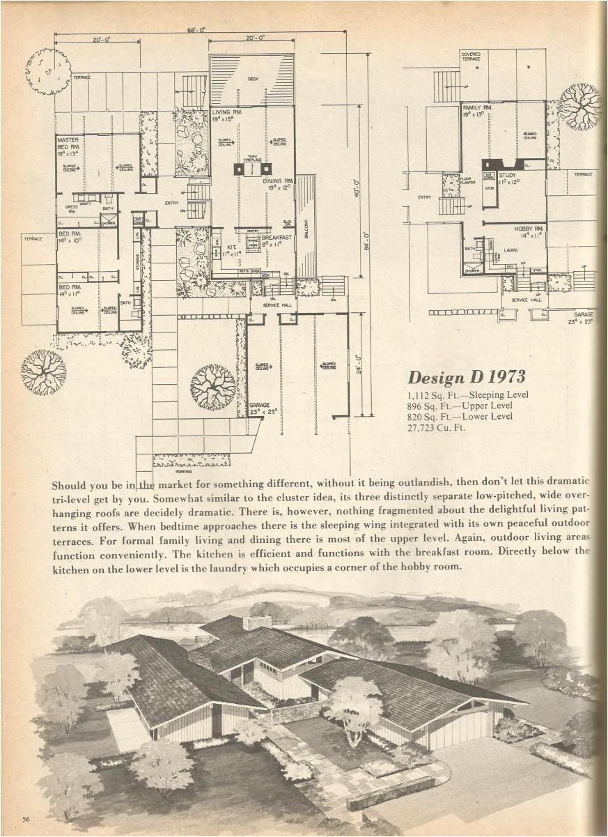 vintage house plans 1973