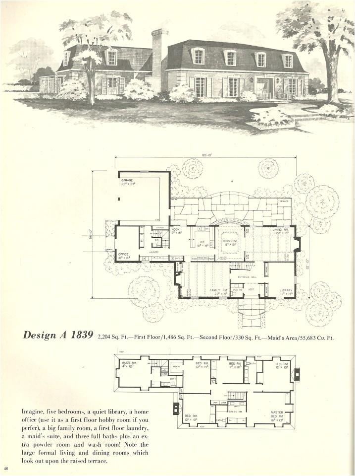 vintage house plans french mansards 2