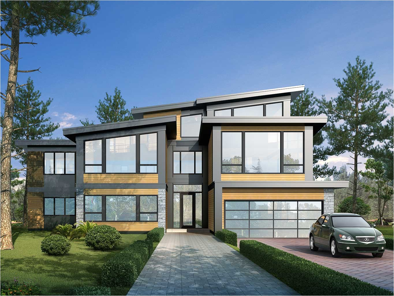 custom west coast contemporary home design