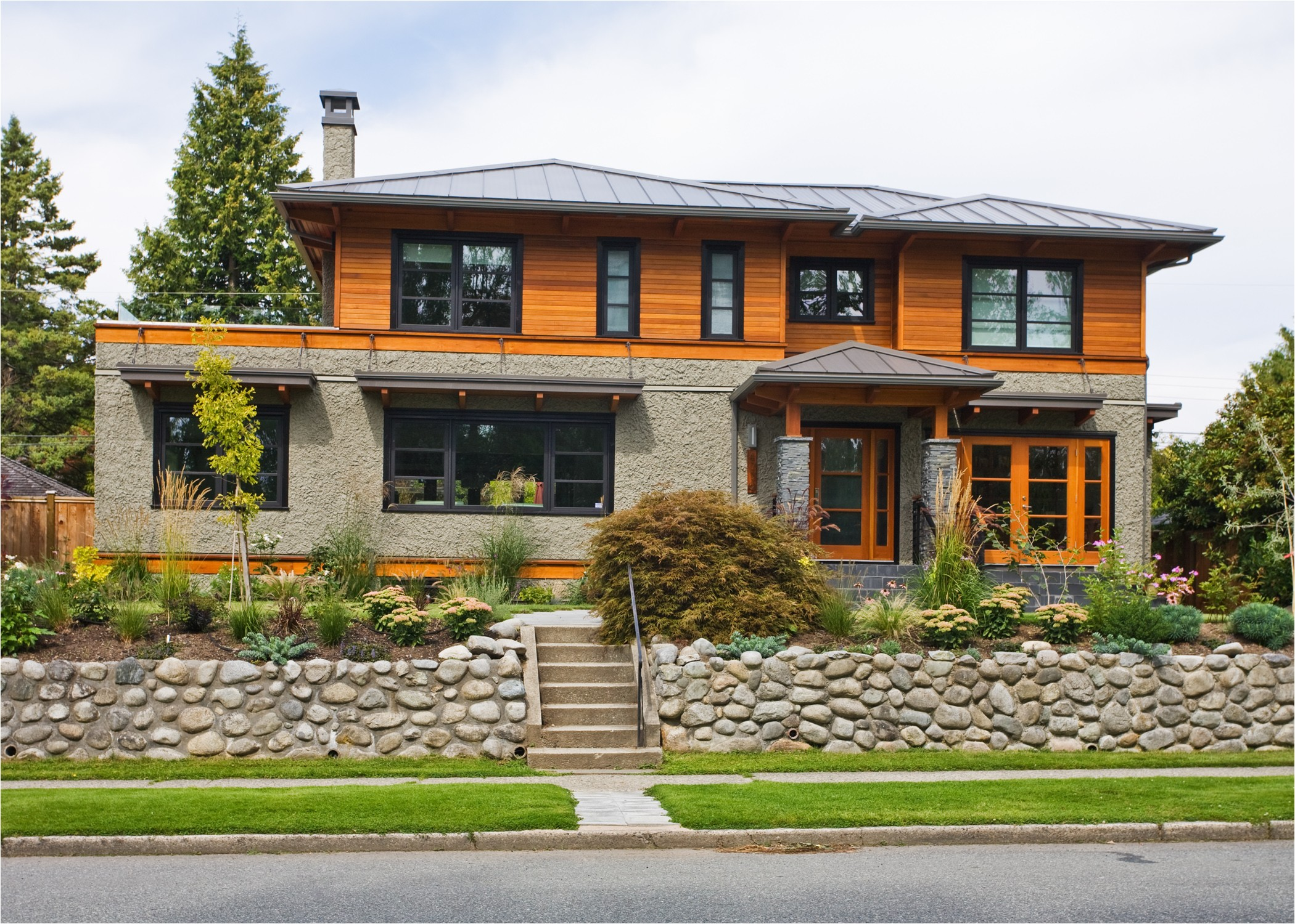 home owner wished capture west coast contemporary style