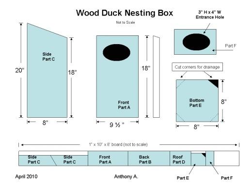 wood duck nesting box