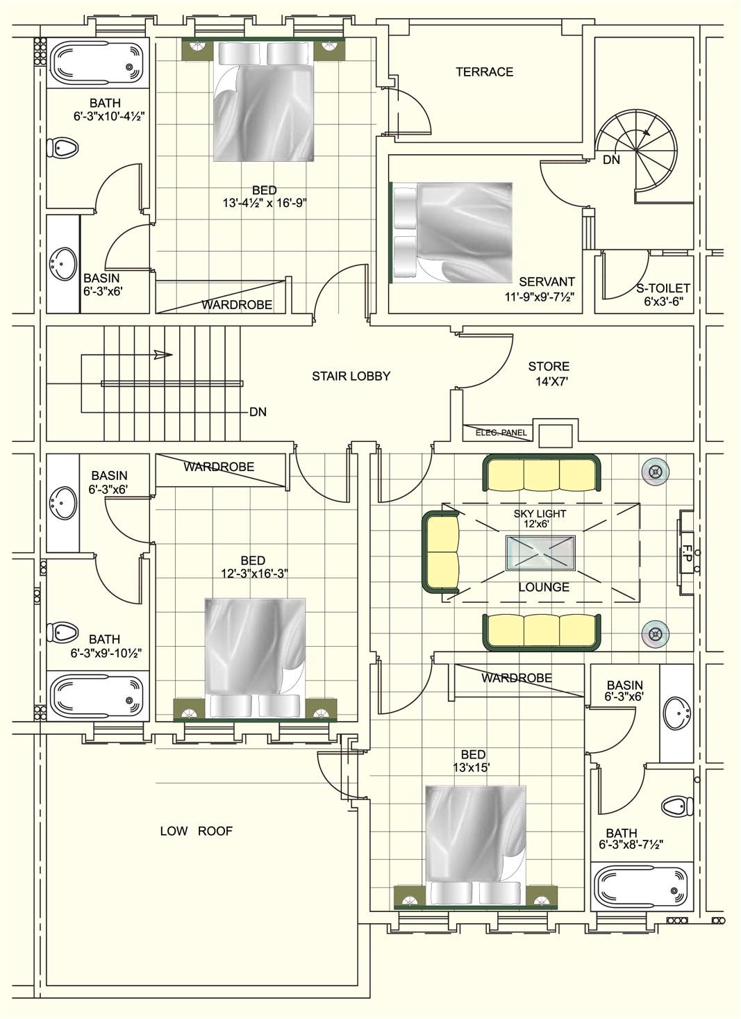 1 kanal house design interior exterior plan