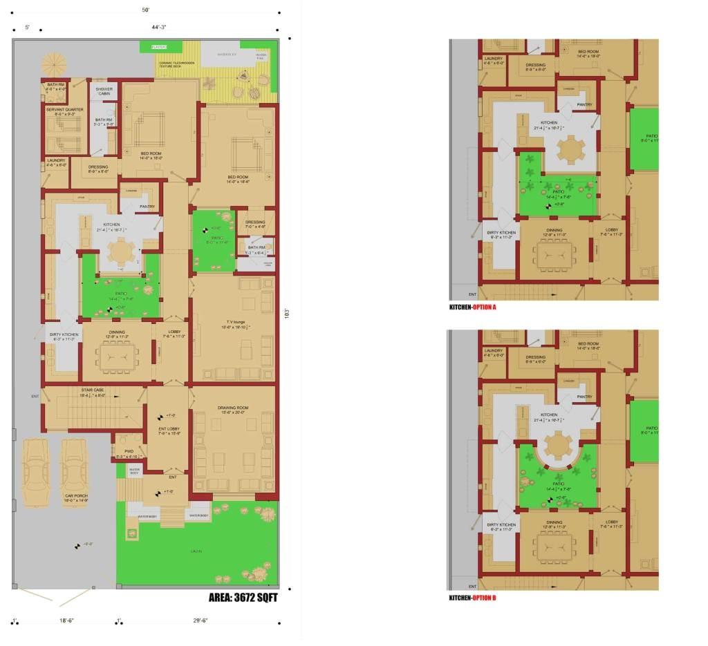 450 sqm house plan1 kanal house plan