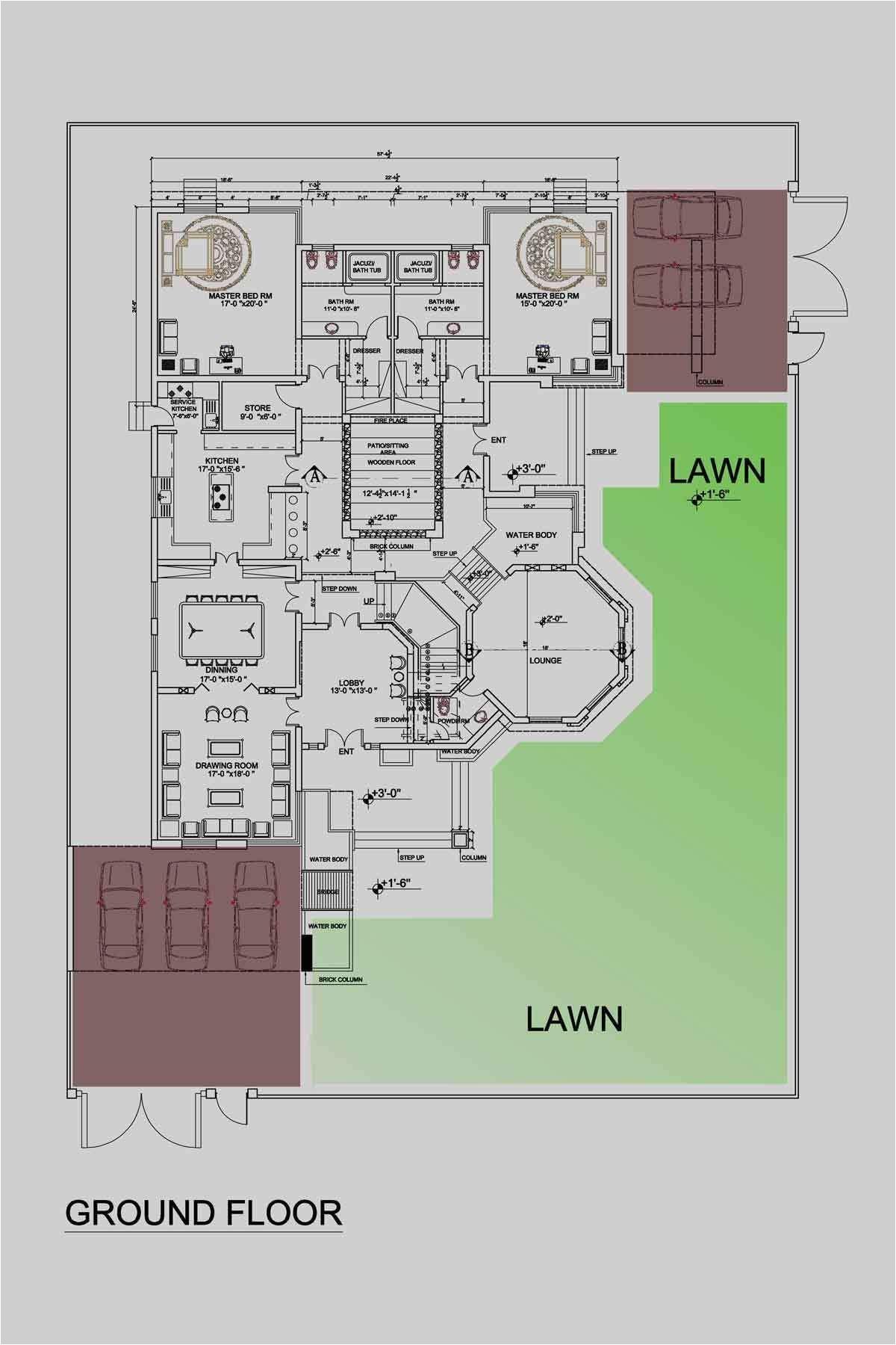 2 5 kanal house plans