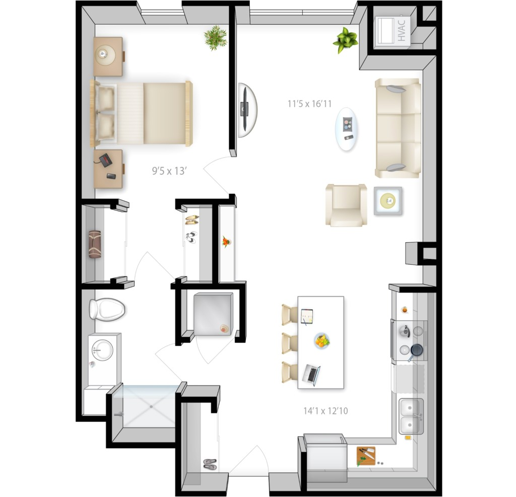 1000 sq ft house plans 2 bedroom kerala style