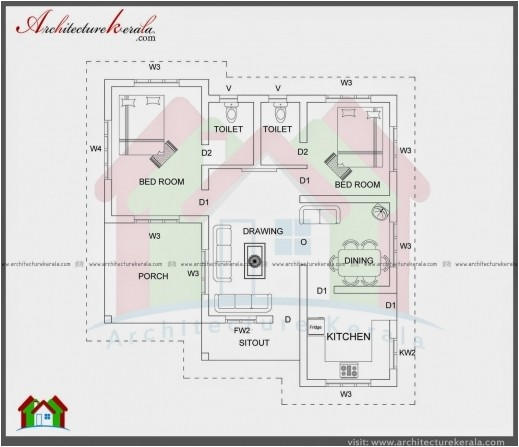 2000 square feet 3 bedroom house plan and elevation architecture kerala