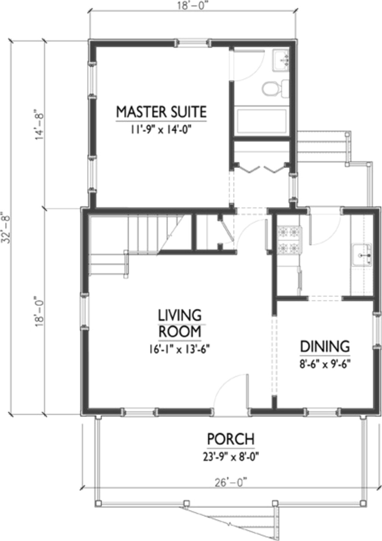 1200 square feet 3 bedrooms 2 bathroom cottage house plans 0 garage 36534