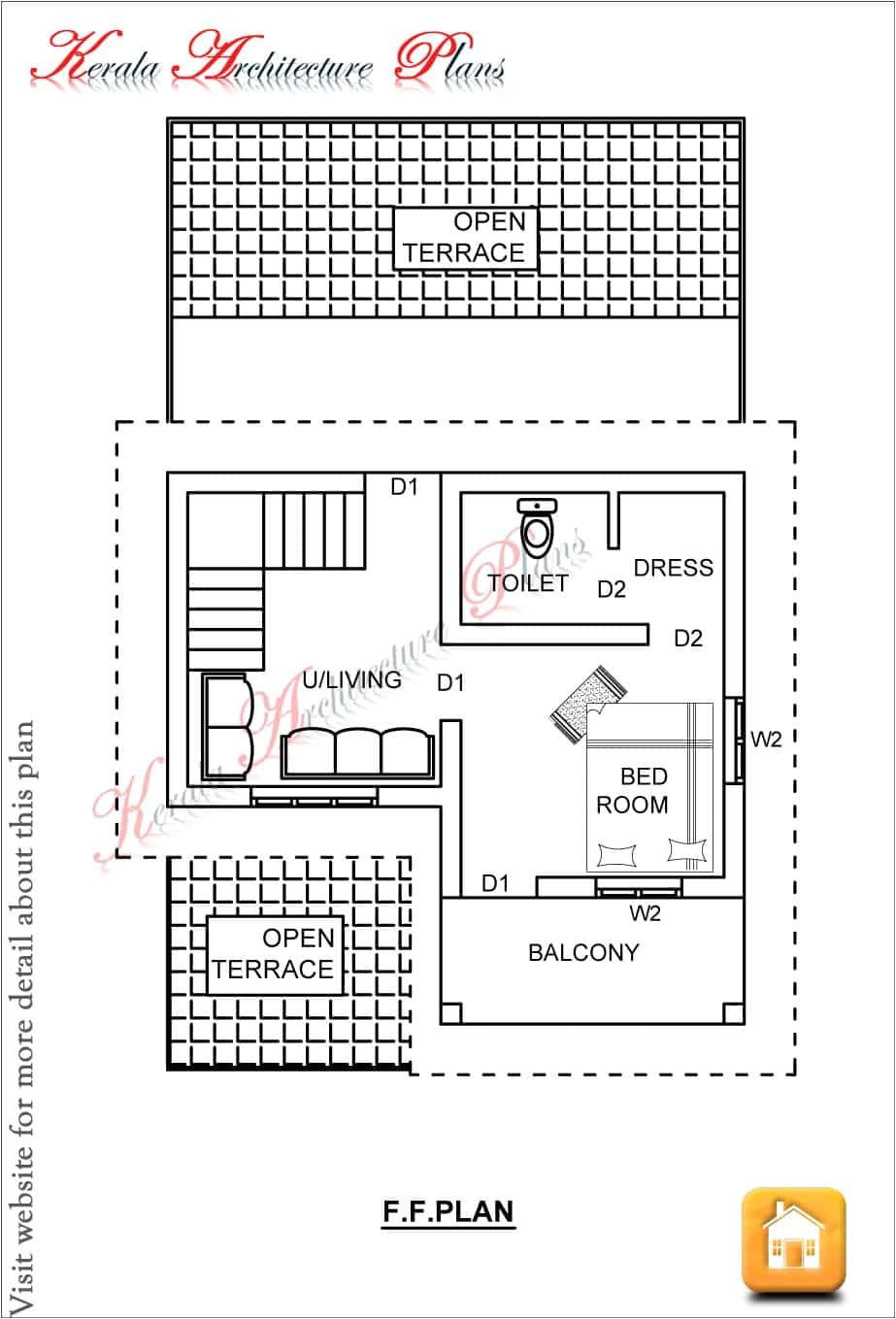 single story kerala house plan at 1200 sq ft