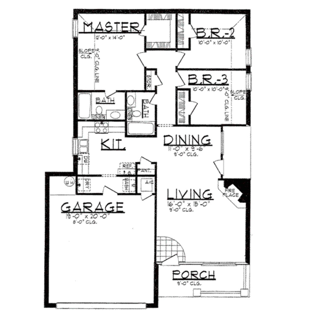 1250 square feet 3 bedrooms 2 bathroom country house plans 2 garage 10980