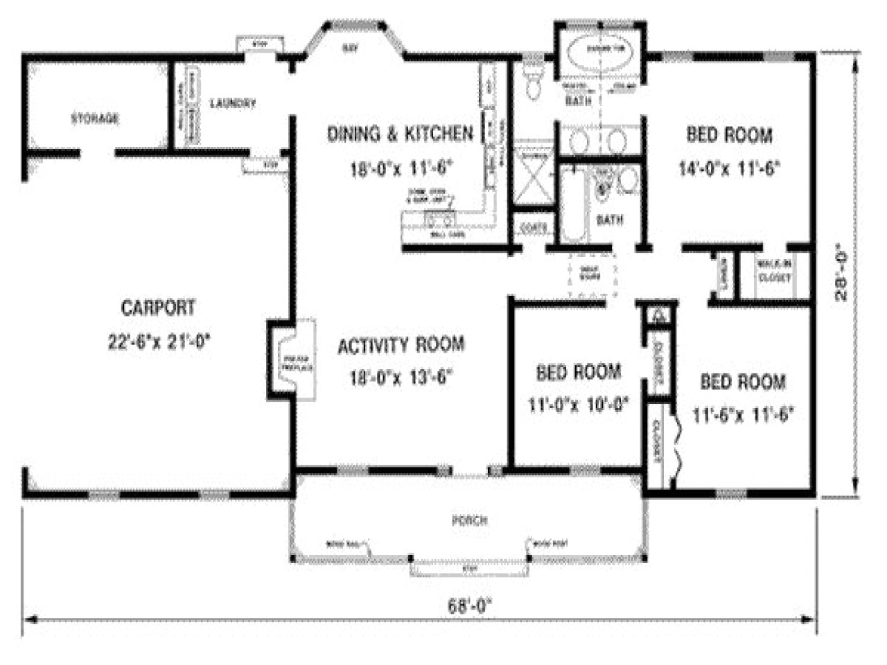 1300 Sq Ft Home Plans 1300 Square Foot House Plans 1300 Sq Ft House with Porch