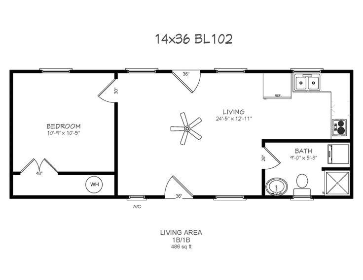 14×40 House Floor Plans 14 X 40 Floor Plans with Loft Bear Lake Series Model 102