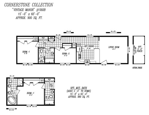 14x60 mobile home floor plans