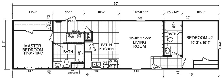 14×60 Mobile Home Floor Plans 14×60 Mobile Home Floor Plans Floor Matttroy
