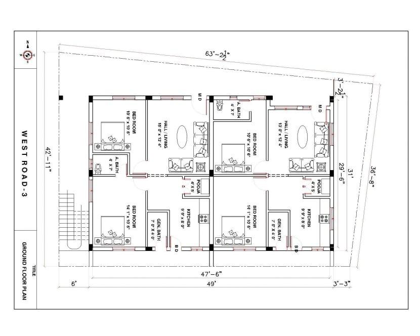 duplex house plans 150 sq