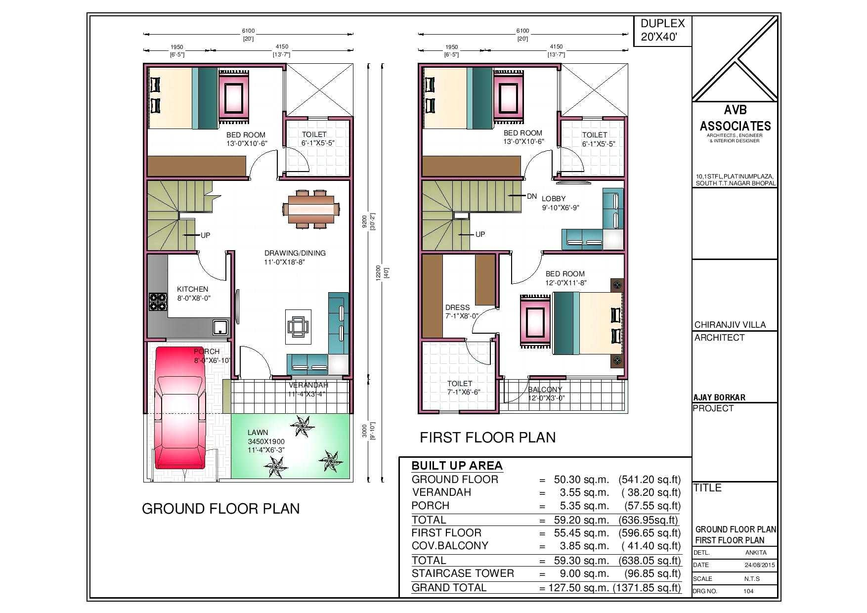sqft double bungalows designsand sq ft gallery and 1500 duplex home plan 3d images