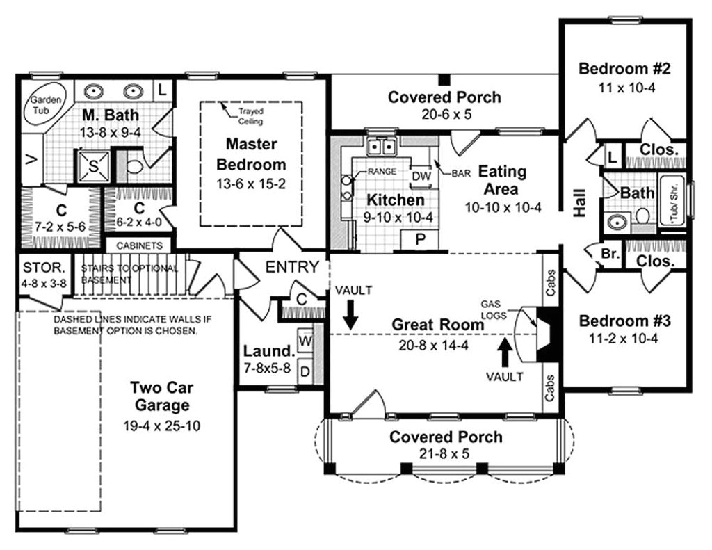 1500 square feet 3 bedrooms 2 bathroom traditional house plans 2 garage 13694