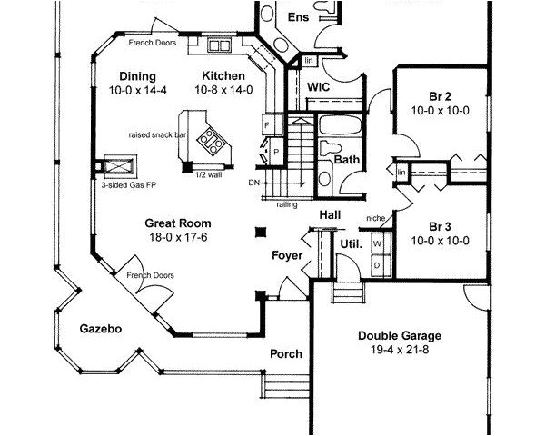1500 square foot single story house plans