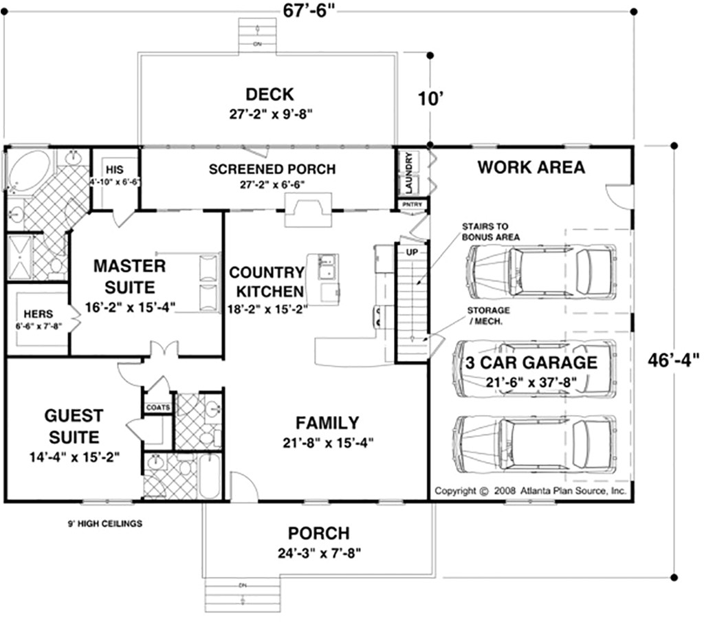ranch house plans under 1500 square feet
