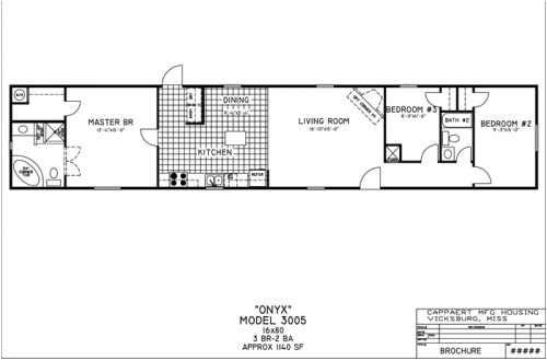 16x80 mobile home floor plans