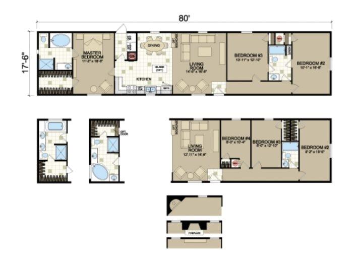 16 x 80 mobile home floor plansmobile home plans ideas picture intended for 18 x 80 mobile home floor plans