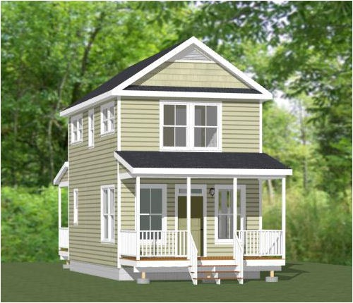 16×28 House Plans 16×28 Tiny House Pdf Floor Plan 854 Sq Ft Model 5