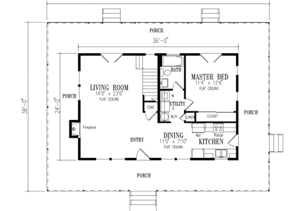 1700 square feet 3 bedrooms 2 bathroom farm house plans 0 garage 16409