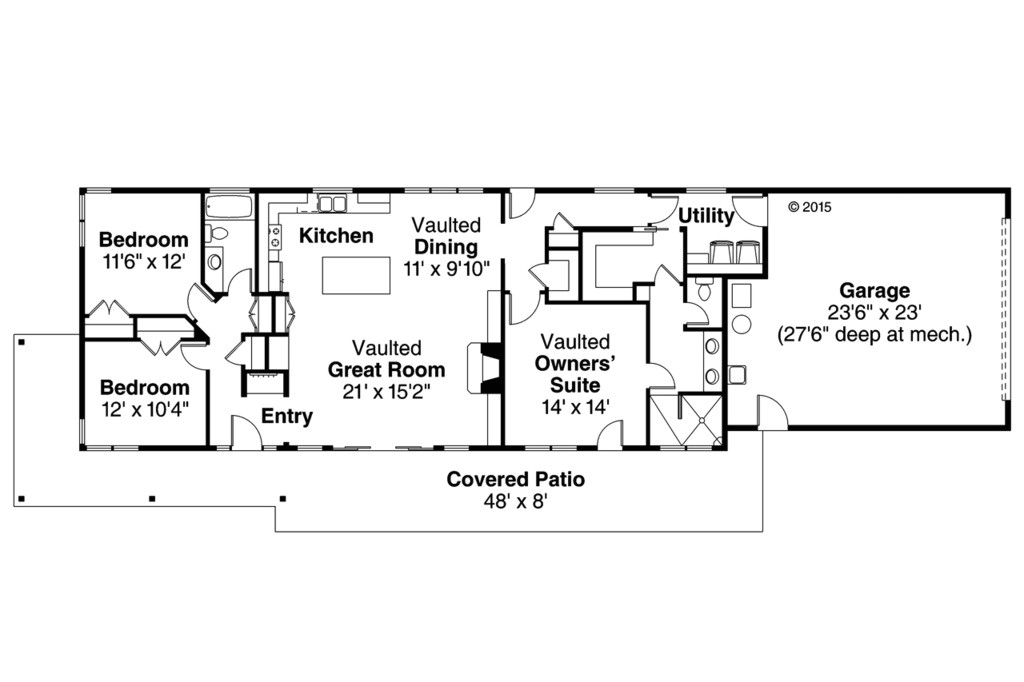 1700 Sf Ranch House Plans Ranch Style House Plan 3 Beds 2 Baths 1700