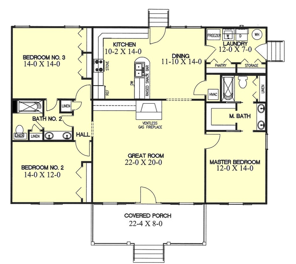 1700 square feet 3 bedrooms 2 bathroom southern house plans 0 garage 4617