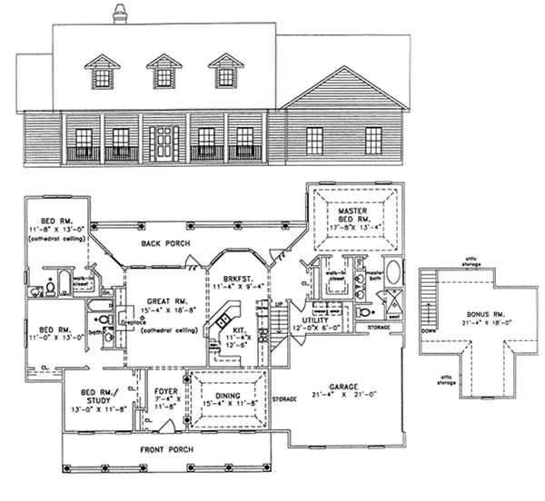 1800 sq ft house plans with bonus room