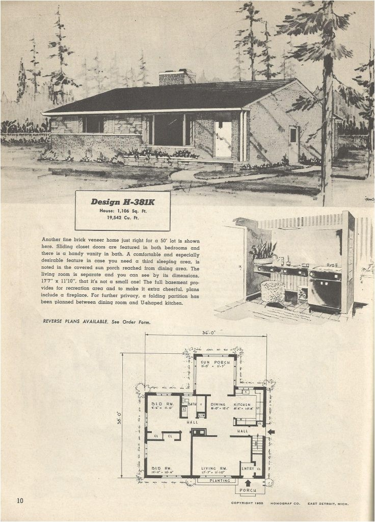 1950 ranch house plans lovely vintage house plans mid century homes 1950s homes 1950 ranch mid