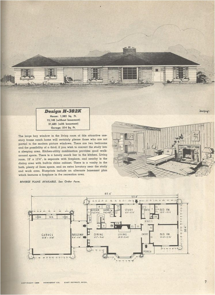 1950 ranch house plans