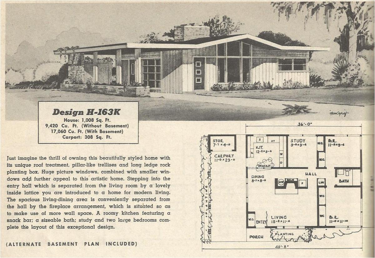 vintage house plans 163