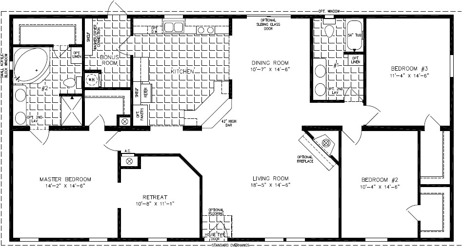Redman Mobile Home Floor Plans X on