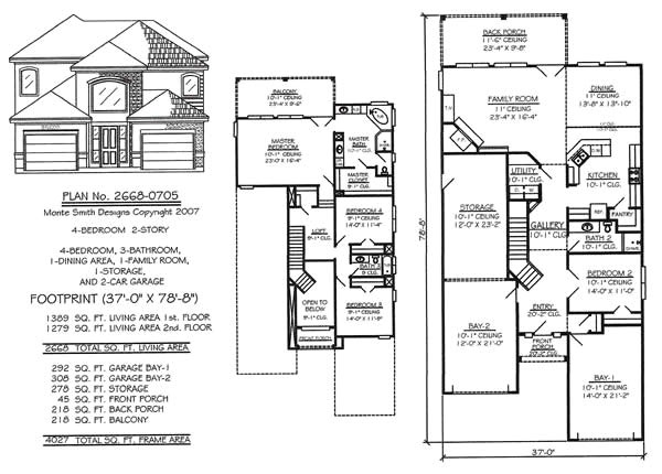 2 story living room house plans